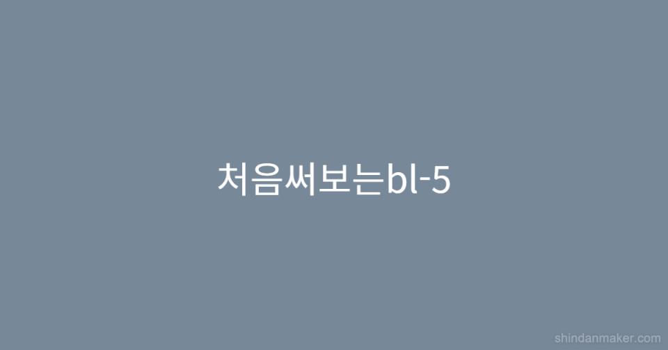 처음써보는bl-5